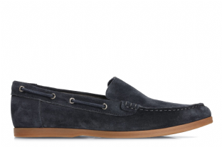 Clarks Mens Morven Sun Navy Suede Deck Shoes